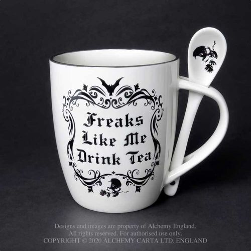 Alchemy Freaks like me drink Tea - muki + lusikka