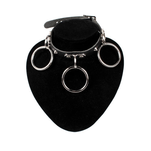 Bullet 69  - Choker,  plate medium rings