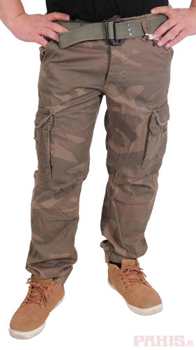Surplus Premium Slimmy - Reisitaskuhousut, Woodland