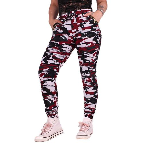Red Camo Zipper - Joggersit