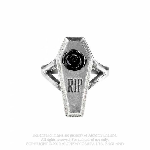 Alchemy Gothic Pewter RIP Rose  - Sormus