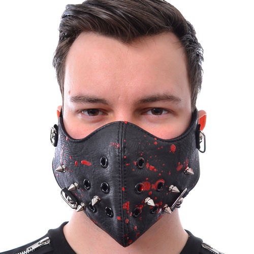 Poizen Industries Spike mask - black/blood
