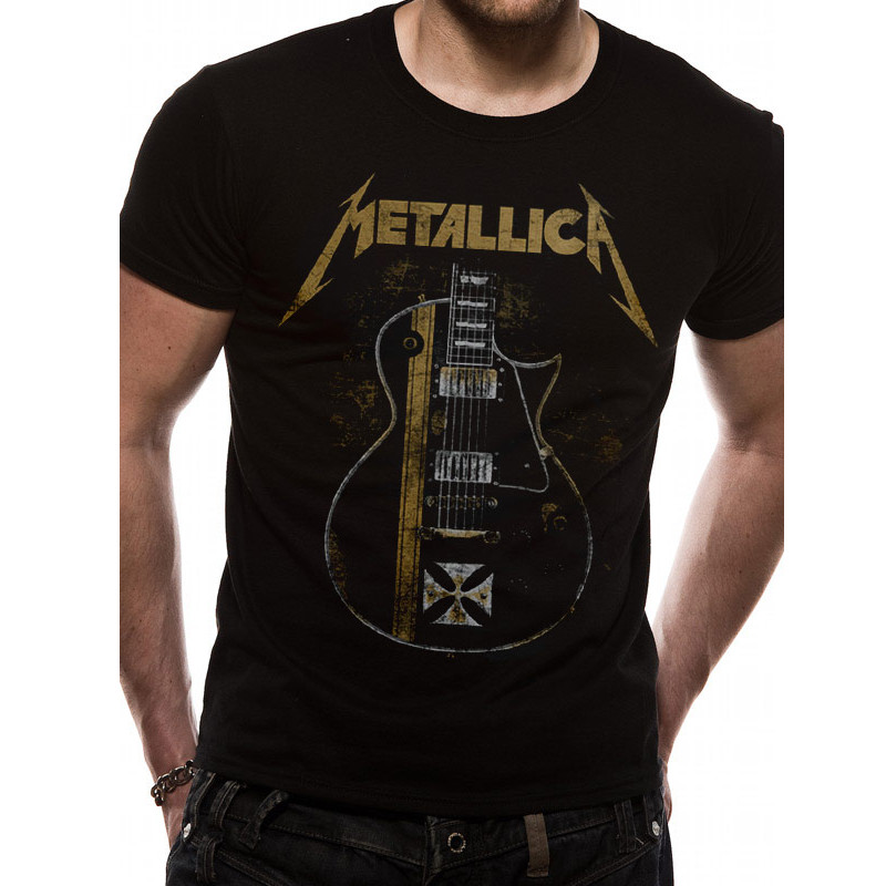 Bändipaidat Metallica Hetfield Iron Cross T-paita