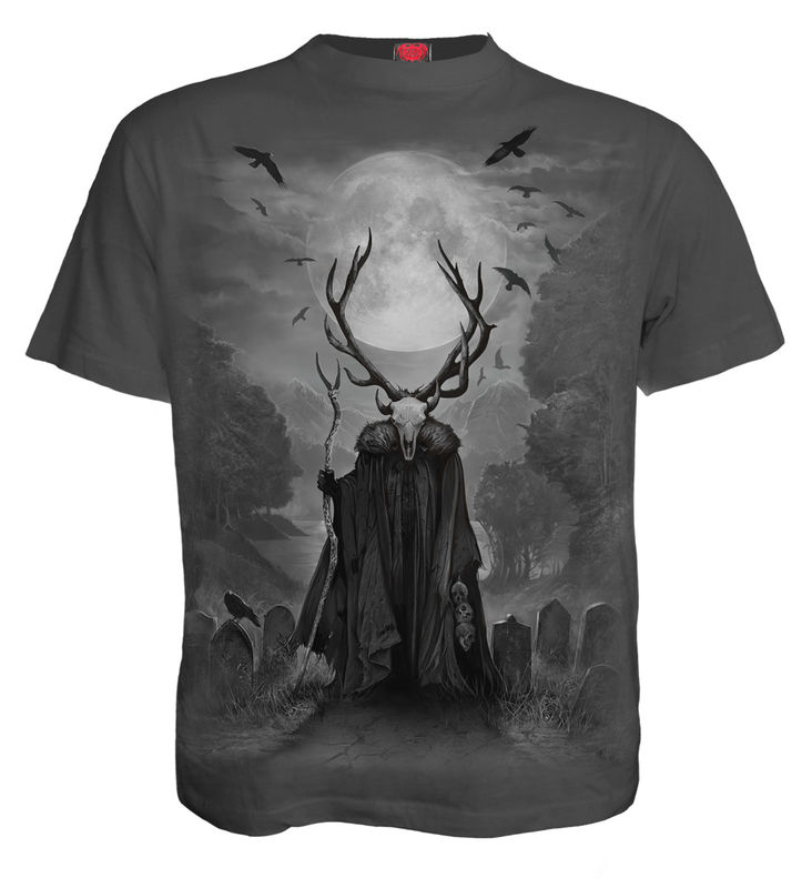 Spiral Horned Spirit - T-paita, charcoal
