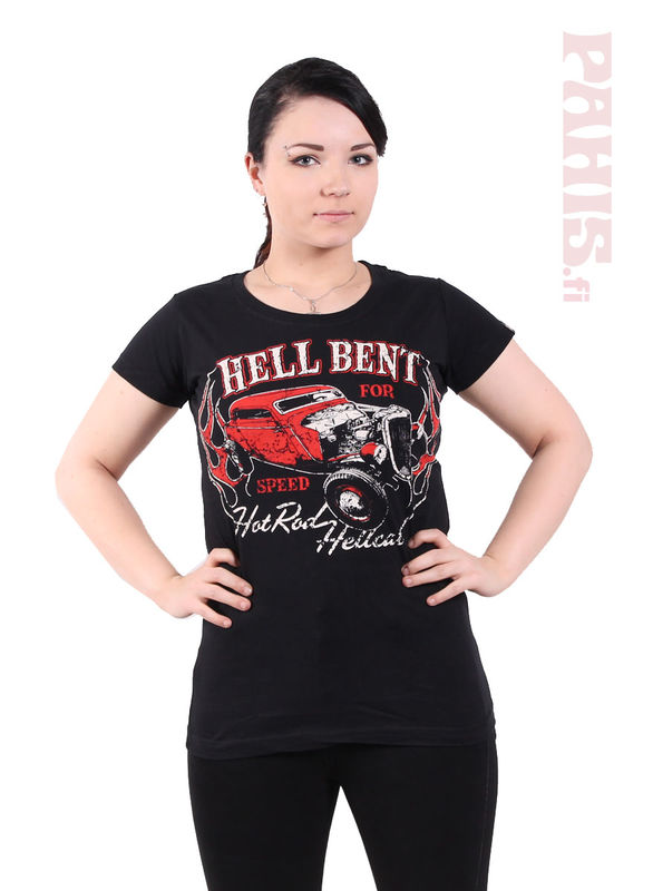 Hot Rod Hellcat Hell Bent For Speed - Lady Fit T-paita