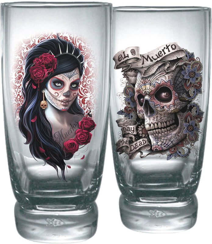 Day Of The Dead  juomalasit 2 kpl