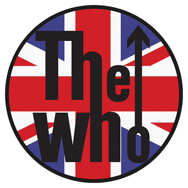 The Who Union Jack Logo - Kangasmerkki