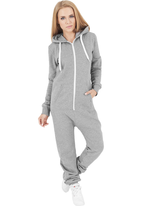 Urban Classics Sweat Jumpsuit - Collegehaalari, harmaa